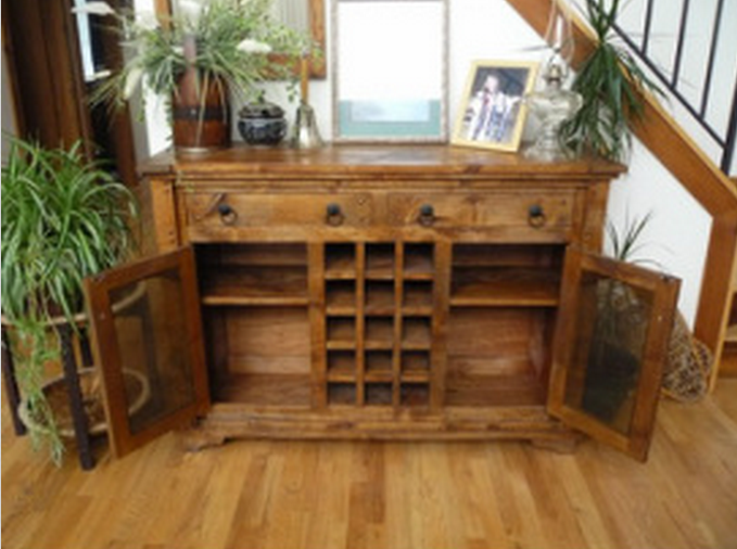 Custom Wine Hutch