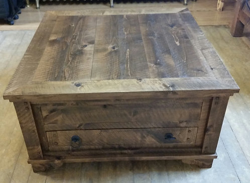Distressed Alder Coffee Table