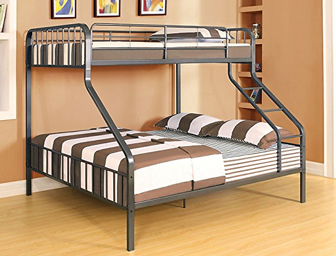 Gunmetal Twin XL over Queen Bunk