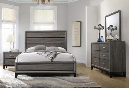 Queen Grey Oak Bedroom Set