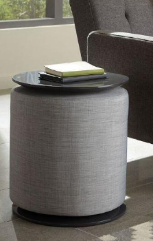 Accent Table with Removable Ottoman