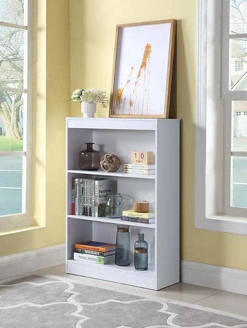 3 Shelf White Bookcase