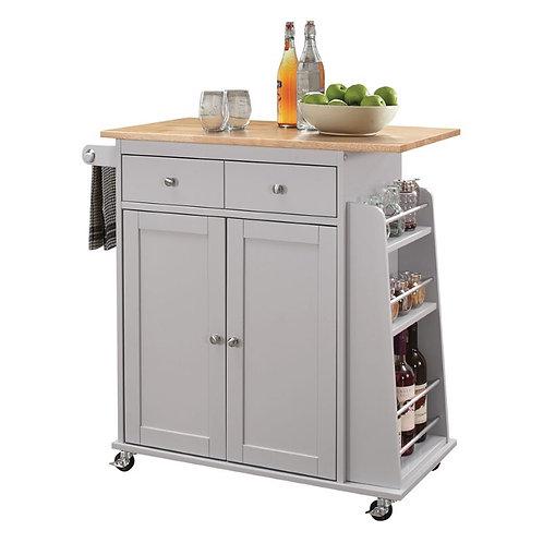 Grey Kitchen Cart