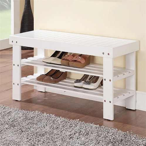 Bench with 2 Shelves