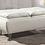 Thumbnail: White Leather Storage Ottoman