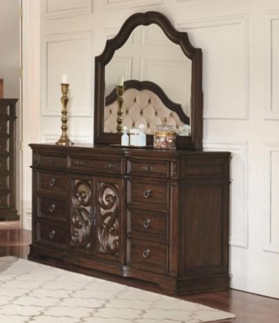 9 Drawer Mirrored Dresser