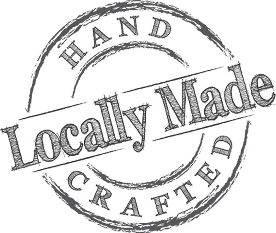 hand crafted locally made logo