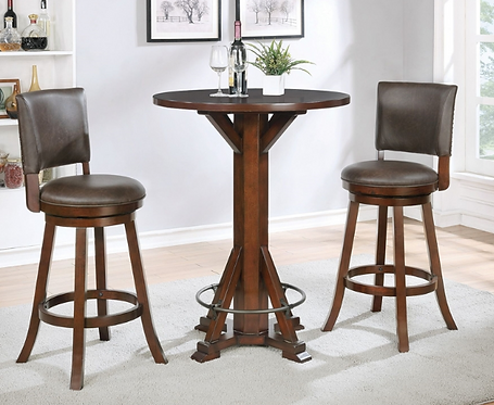 Chestnut Bar Table with Footrest