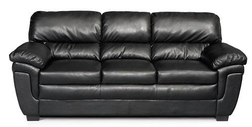 Leather Pillow Arm Sofa