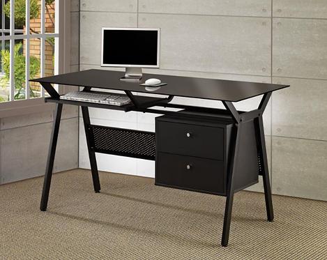 Glass & Metal Computer Desk