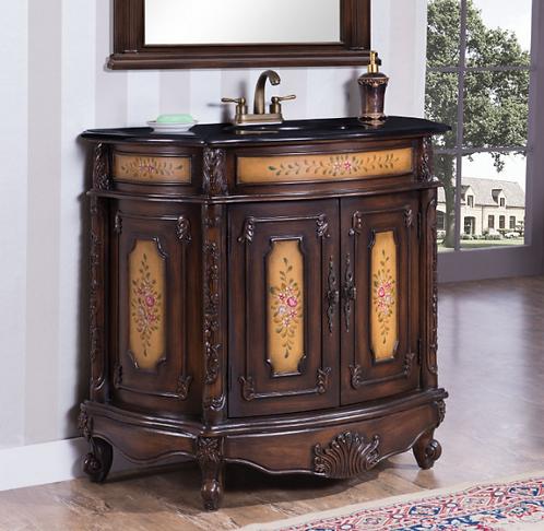Floral Sink & Cabinet