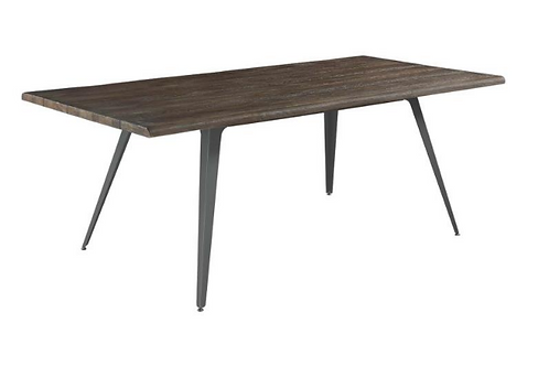 Dark Brown Live Edge Dining Table