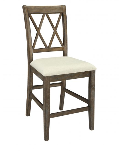 Salvage Brown Counter Height Chairs