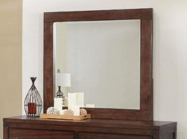 Dark Cocoa Mirror for 6 Drawer Dresser