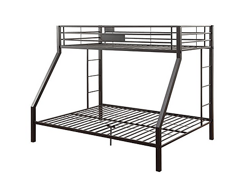 Black Twin XL over Queen Bunk