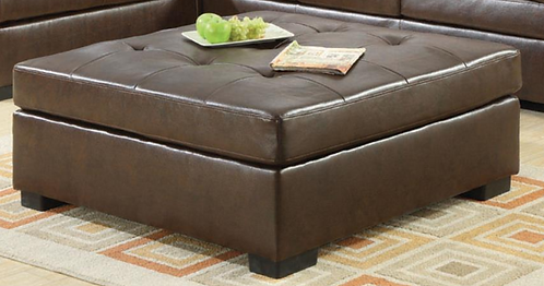Bonded Leather Ottoman