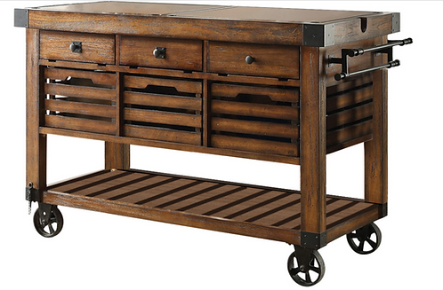 Chestnut Kitchen Cart