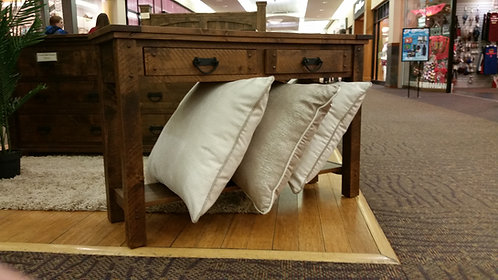 Distressed Alder Sofa Table