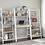 Thumbnail: White & Natural Bookshelf Writing Desk