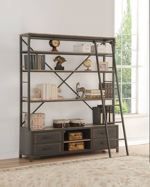 Large Book Shelf with Ladder