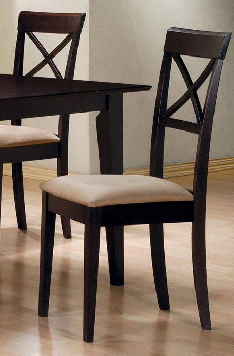Cappuccino Cross Back Dining Chair
