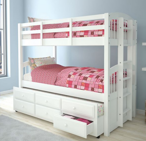 Convertible Storage Bunk with Trundle