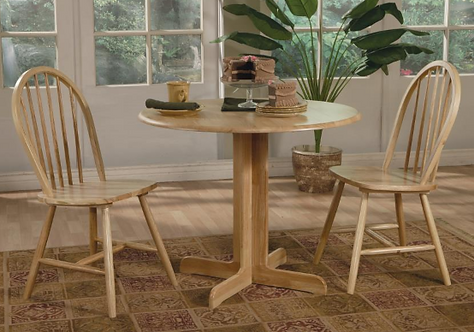 Round Natural Dinette Table