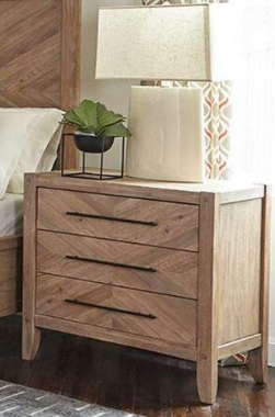 White Washed Natural Nightstand