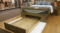 Barnwood Frame with Open Trundle
