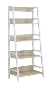 White & Natural Bookcase
