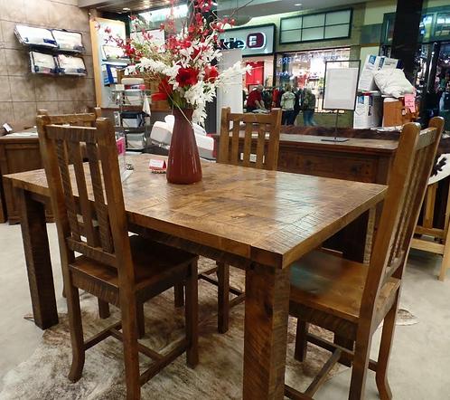 Distressed Alder Dining Table