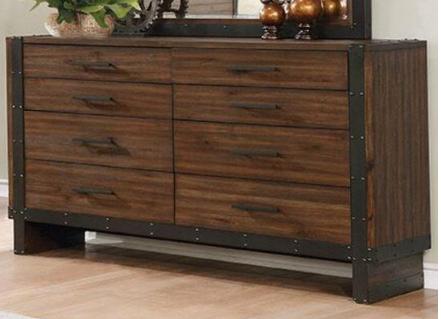 Bourbon and Metal 8 Drawer Dresser