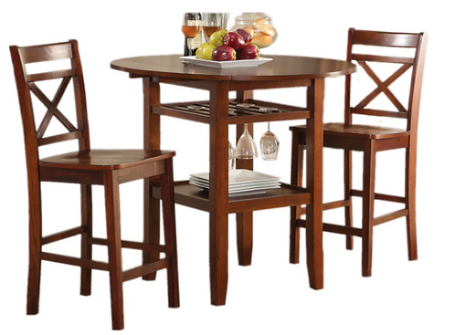 Bar Table with Wine Rack