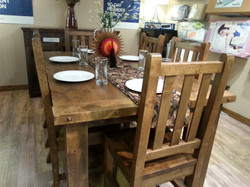 Decorated Alder Dining Table
