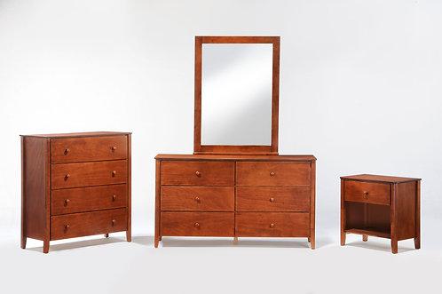 Zest 6 Drawer Dresser with Mirror