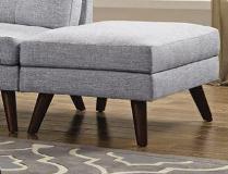 Grey Linen Ottoman