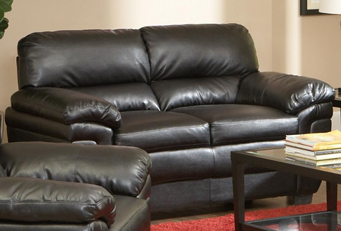 Leather Pillow Arm Loveseat