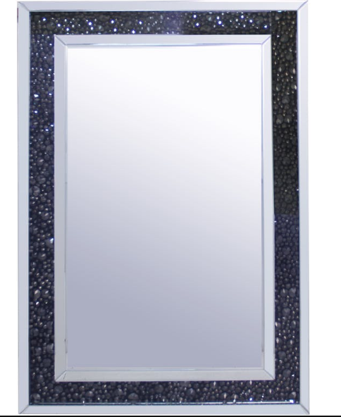 Black Crystal Accent Mirror