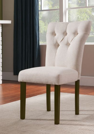 Button Tufted Dining Chairs