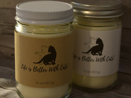Cat Lovers Personalized Soy Candle