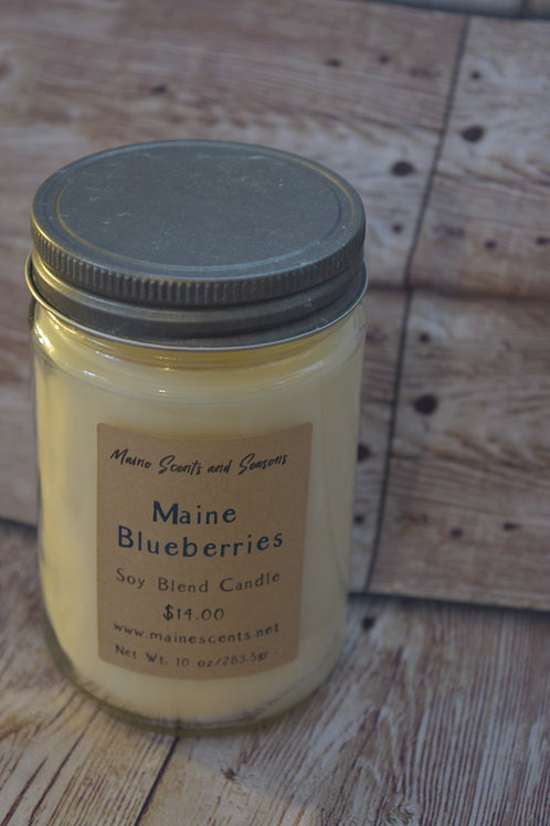 Maine Blueberries Soy Blend Candle 10 oz