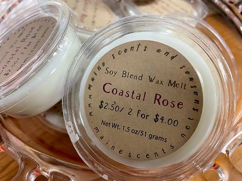 6 Coastal Rose Wax Melts | Compostable Packaging |Toxin Free