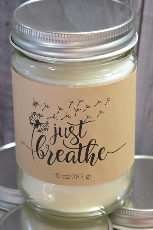 Sweetgrass and Dandelion | Spring Candle | Soy Blend | Just Breathe | 10 oz