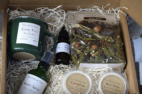 Maine Woods and Campfire Gift Set