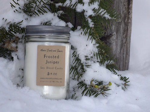 Frosted Juniper Soy Blend Candle 10 oz