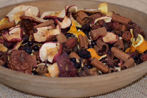 Natural Rustic Potpourri Sampler.  Six Bags of Potpourri