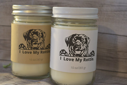 Rottweiler Soy Blend Candle | Personalized | Gift For Dog Lovers