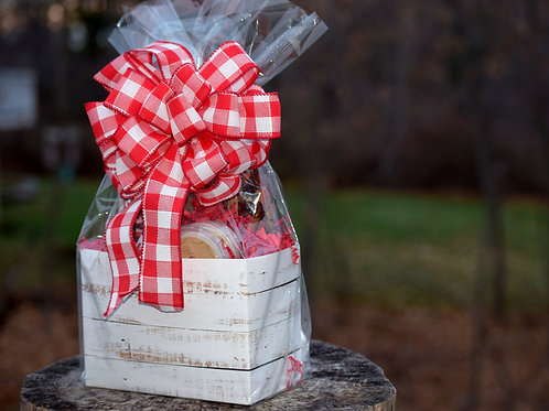Distressed Wood Gift Box Basket ~ Choice of Scent