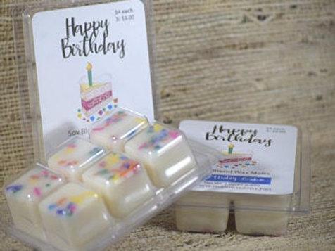 Set of 3 Happy Birthday Wax Melts ~ Birthday Cake Scent ~ Soy Blend