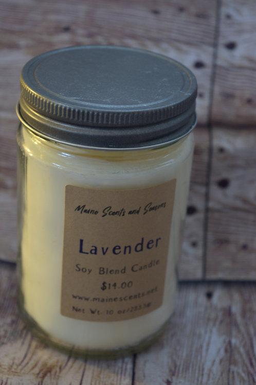 Lavender Soy Blend Candle 10 oz